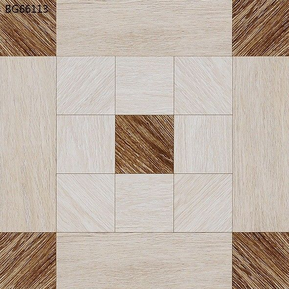 Wood Design Glazed White Polished Floor Tiles 600x600  Living Room Interior